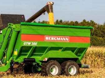 Тандемно разтоварващо ремарке  марка BERGMANN модел GTW 300