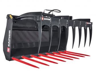 Вилици за оборска тор с хидравличен захват марка SAPHIRE Модел DNG